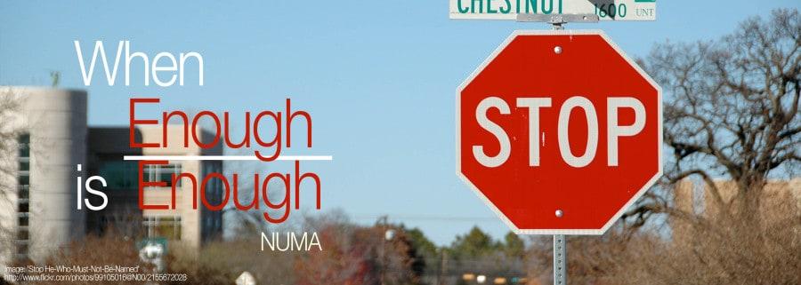SMACC: Numa on When Enough is Enough