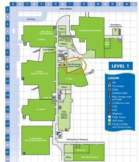 Sydney Kids Lvl 1 map