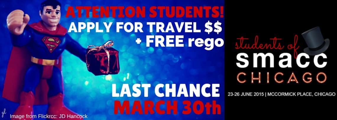 smacc student attendees can apply for travel funds to attend the conference!