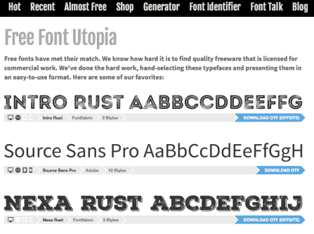 Font Squirrel Free Commercial Fonts