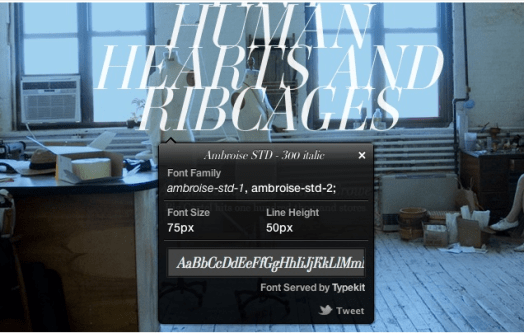 WhatFont WhatFont makes finding fonts on other websites a breeze
