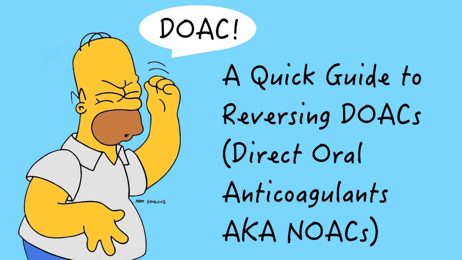Reversing DOAC's - Intensive Care Network
