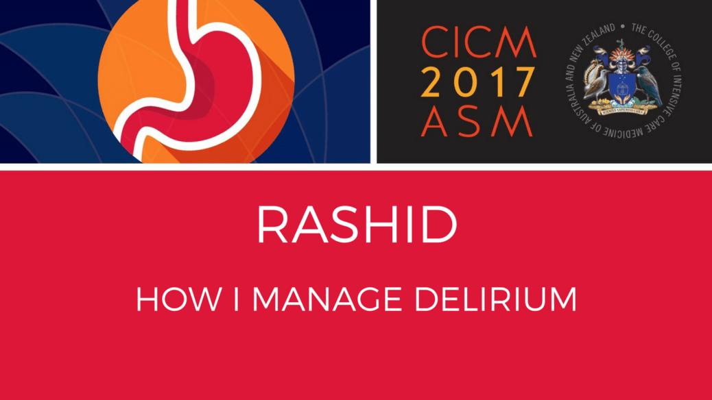 How I manage delirium by Dr Nudrat Rashit