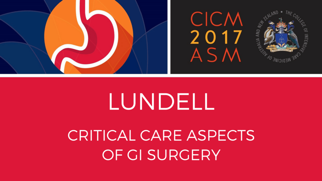 Critical care aspect of GI Surgery
