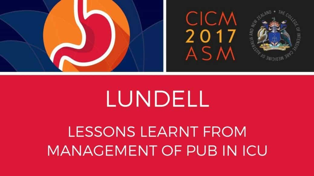 Lessons Learnt from Management of PUB in ICU
