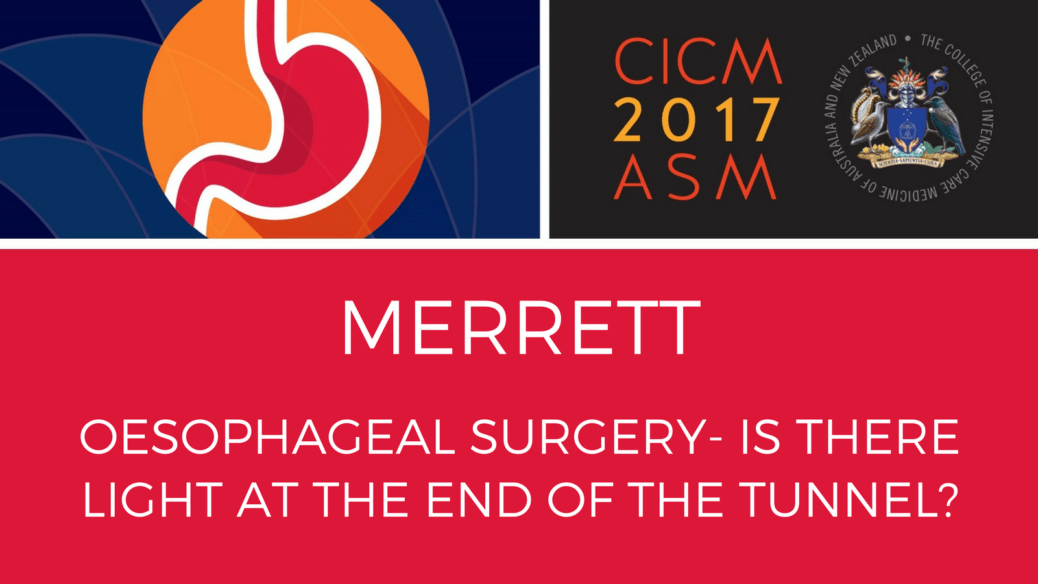 Oesophageal surgery- Is there light at the end of the tunnel?