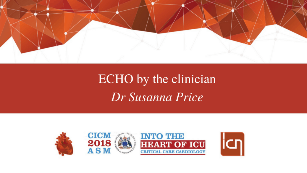 ECHO by the clinician.