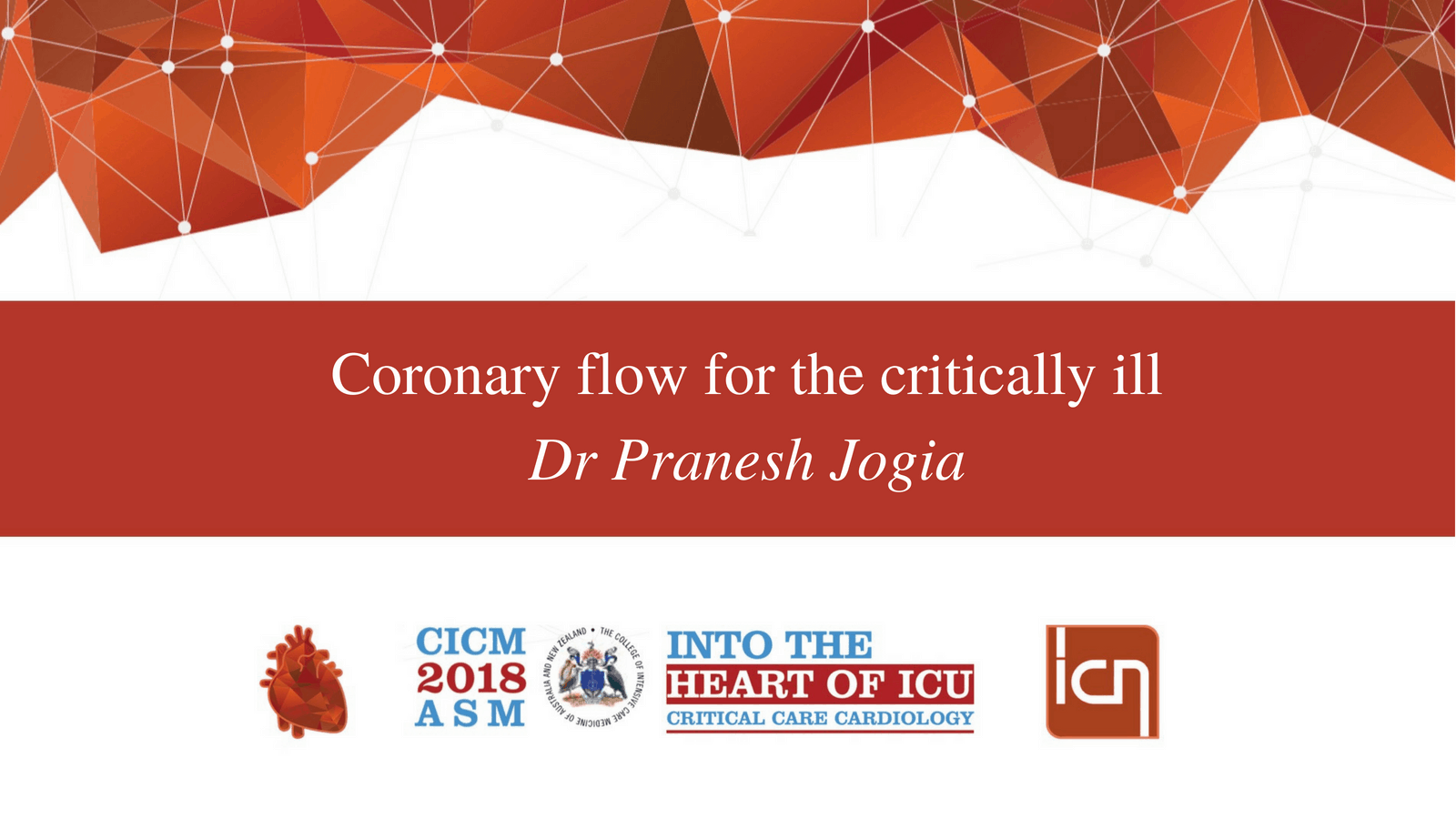 Coronary flow for the critically ill