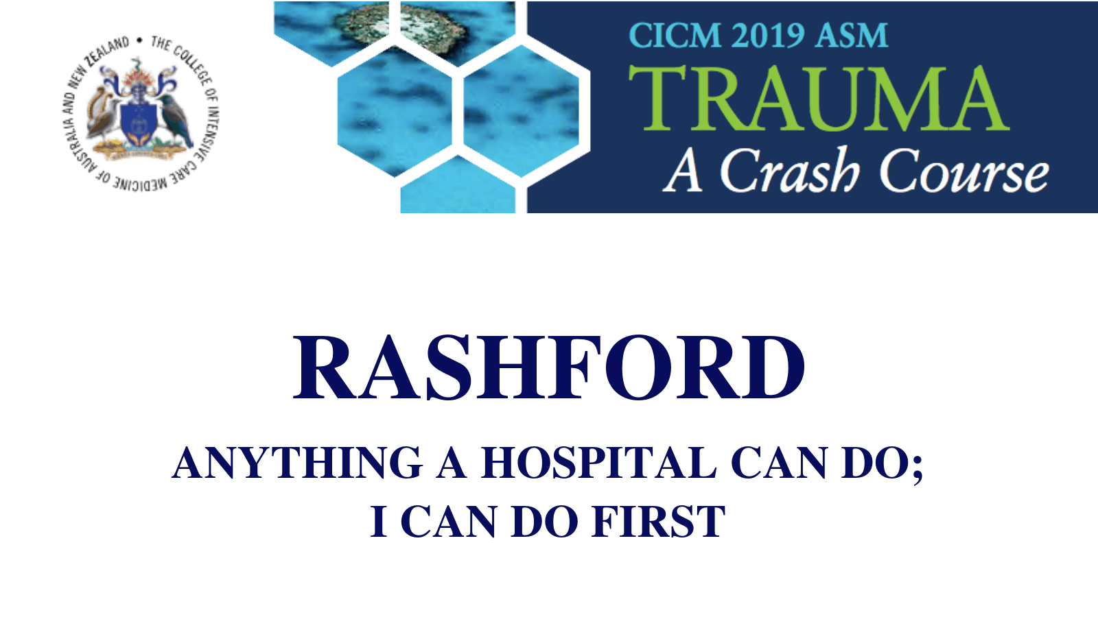 Anything a hospital can do I can do first
