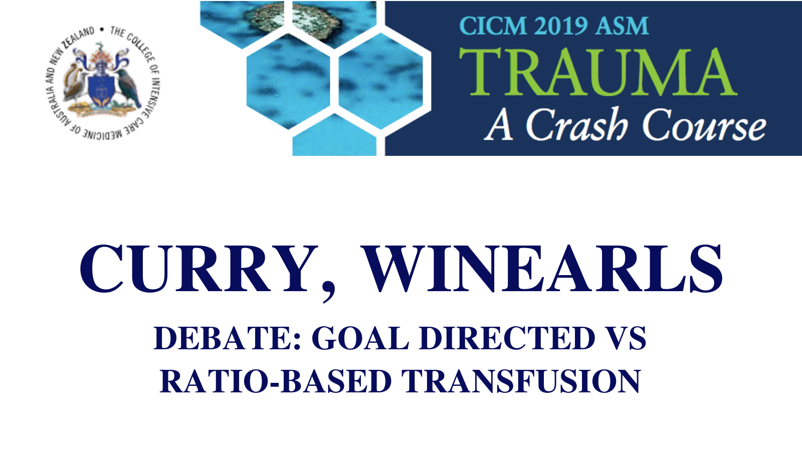 Debate Goal directed vs ratiobased transfusion