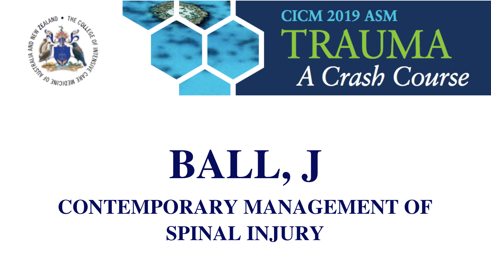 Contemporary management of spinal injury
