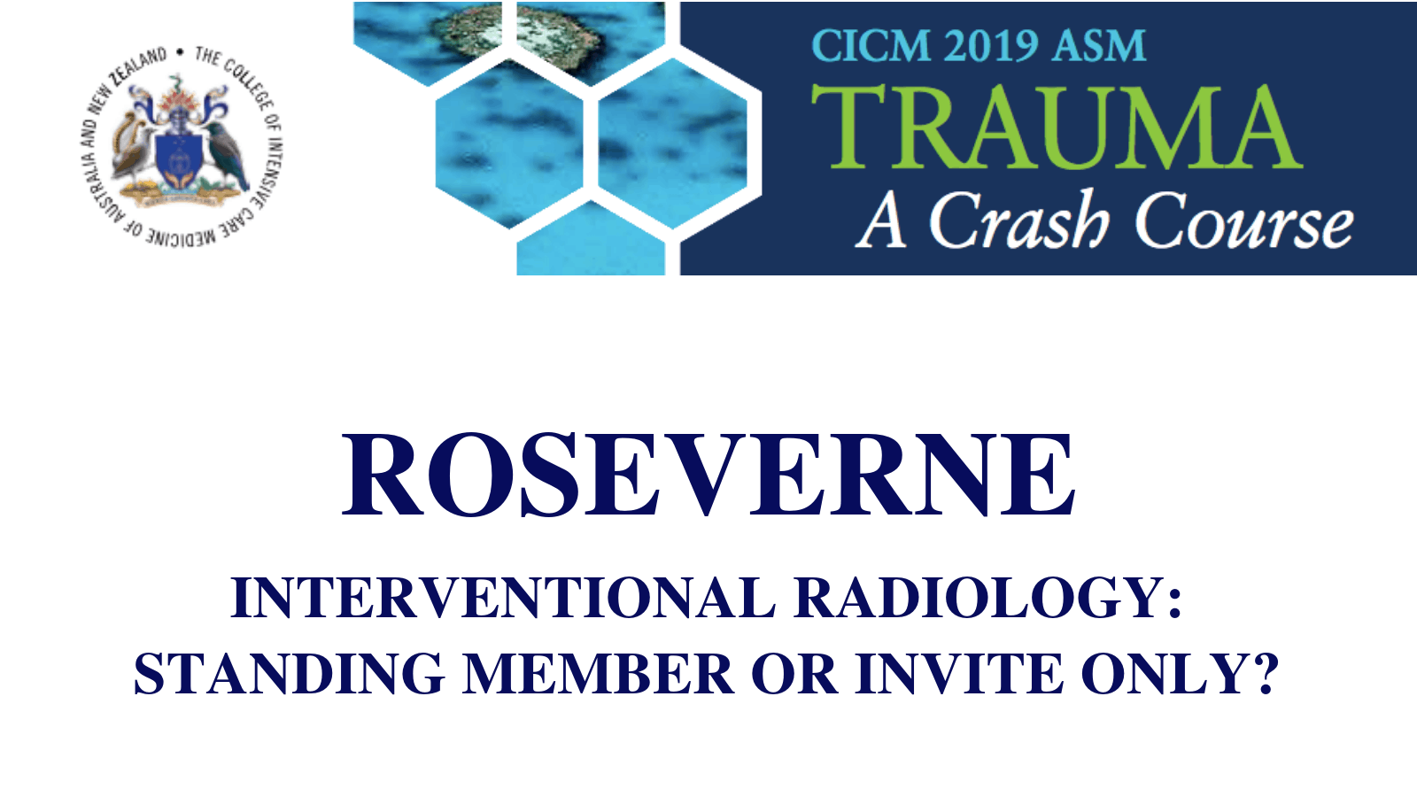 Interventional radiology standing member or invite only