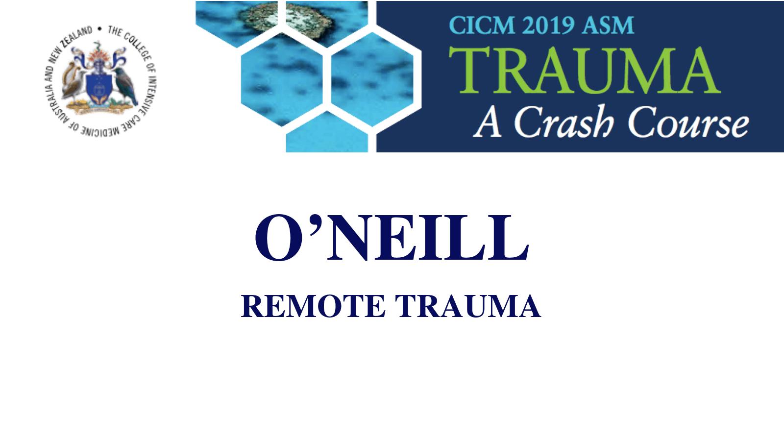 remote trauma