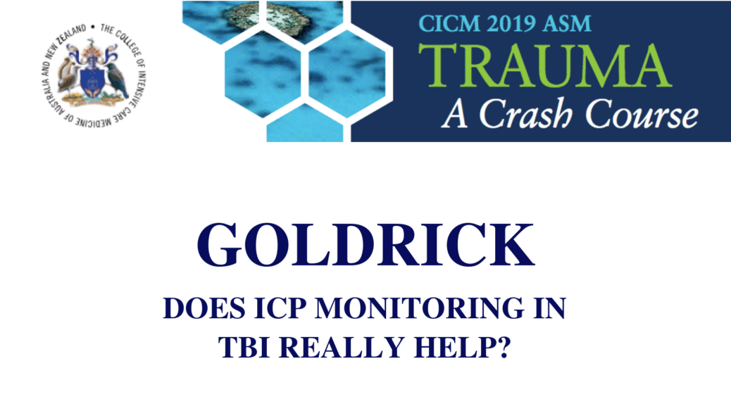 Does ICP monitoring in TBI really help