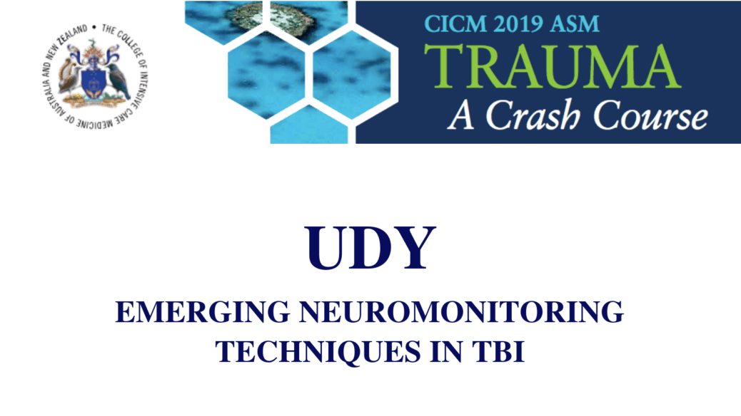 Emerging neuromonitoring techniques in TBI