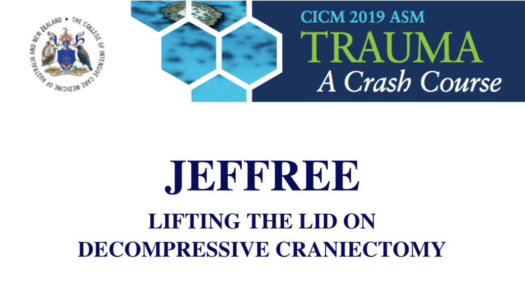 Lifting the lid on decompressive craniectomy