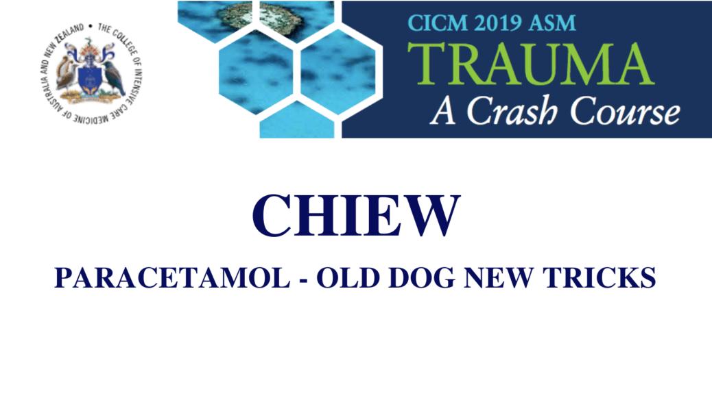 Paracetamol- Old dog new tricks