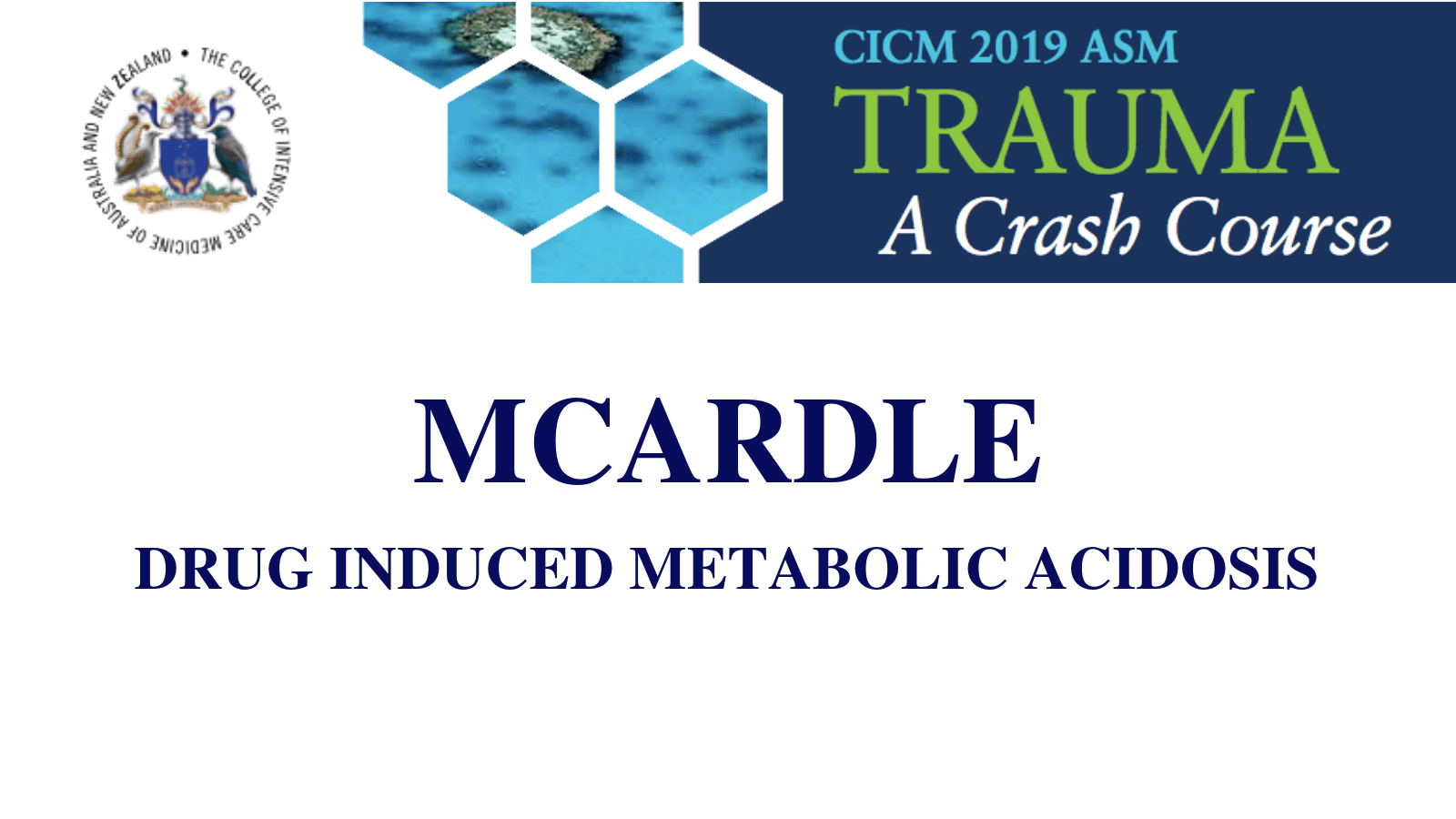 Drug induced metabolic acidosis