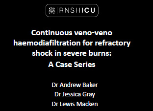 Continuous veno-veno haemodiafiltration for refractory shock in severe burns