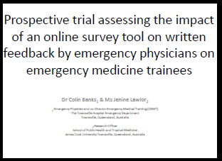 Online survey tool affect on written feedback by emergency physicians on trainees