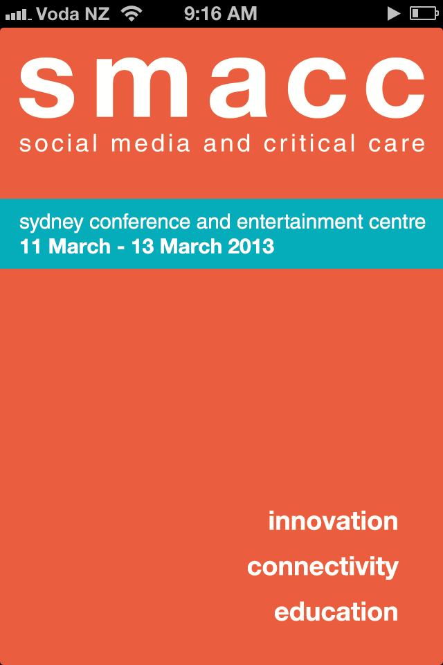 The SMACC 2013 Conference App is available now!